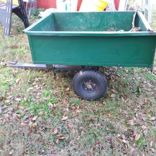Pull Behind Dump Cart for Riding Mower