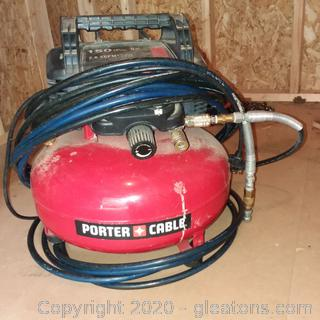 Porter Cable Pancake Air Compressor with Hose