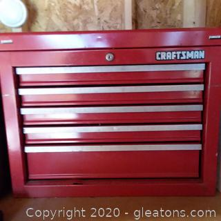 "Craftsman 22"" 5 Drawer Open Till Tool Chest"
