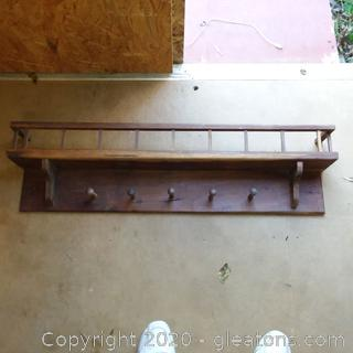 Wooden Wall Shelf/ Coat Hanger
