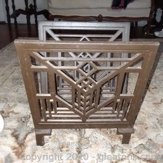 Frank Loyd Wright Design Metal Magazine Rack