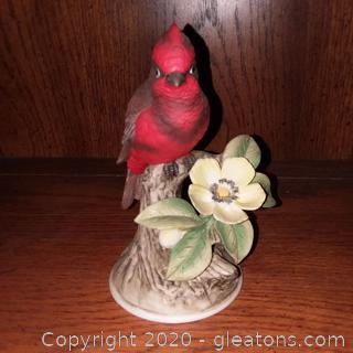 Vermillion Fly Catcher Porcelain Figurine by Andrea by Sadek (8627)