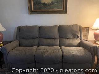 Manual Dual Reclining La-Z-Boy Sofa