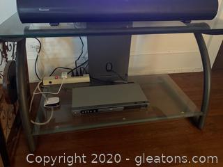 Glass Top Two-Tier TV Stand