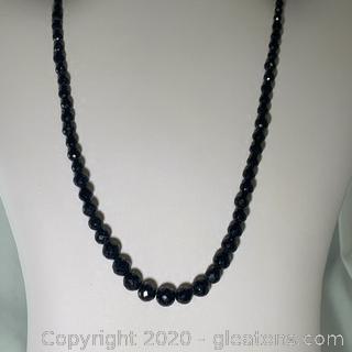 Onyx Beaded Necklace