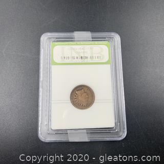 Indian Head cent 1896