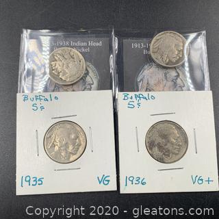 Lot of Buffalo Nickels C