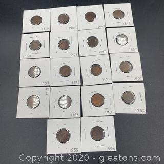 Lot of Indian Headcents A