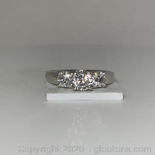 APPRAISED 14K 3 Stone Diamond Ring