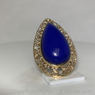 14K YG Lapis Lazuli Ring