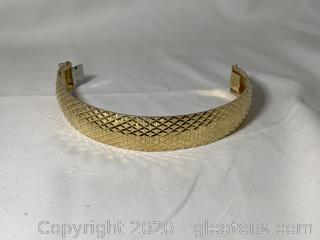 Sterling and Diamond Cut Bracelet