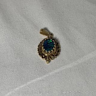 14k YG Vintage Opal Pendant