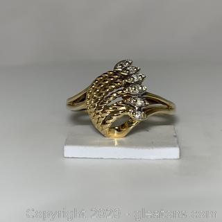 10k YG and Diamond Ring