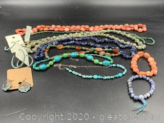 Assortment of Necklaces and Earrings