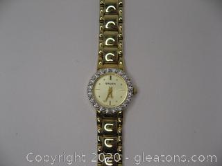Ladies Gruen Watch W/Diamonds