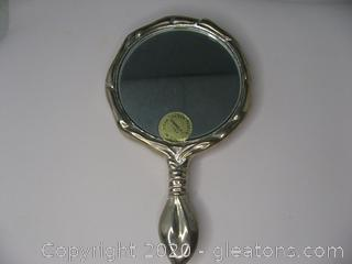 Silver Plated Hand Mirror