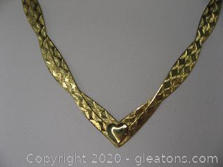 """14kt """"V"""" Shaped Herringbone Chain"""