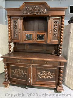 19th Century German Barley Twist Hutch