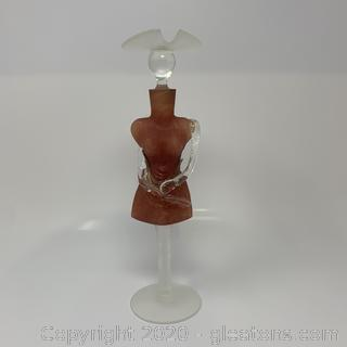 Elena Graver Elena Grauer Mcnta Signed Art Glass Bust Decanter