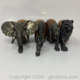 Decorative Animal Metal Wood Napkin Rings