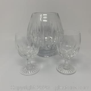 Miller Rogaska Crystal Glasses and Vase