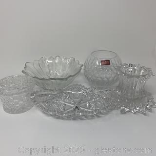 Collection of Cut Glass Items
