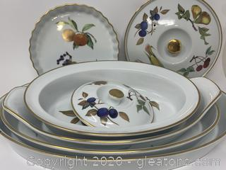 Royal Worcester Evesham Gold Serving Set