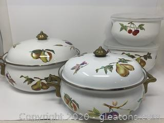Table Tops Unlimited Kensington Gardens Pot/Serving Set