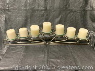 Metal 7-Candle Mantle Candle Holder