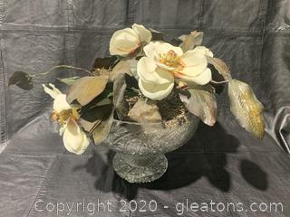 Cut Glass Flower Bowl