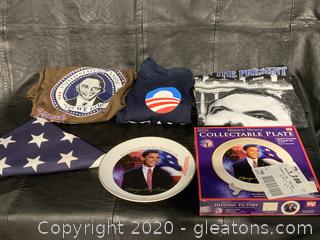 Collection of Obama Merchandise