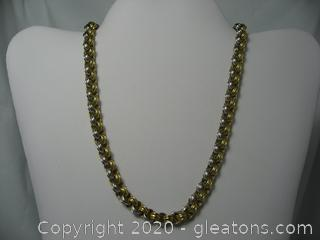 18kt Two-Toned Gold Chain