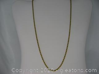18kt Yellow Gold Rope Chain