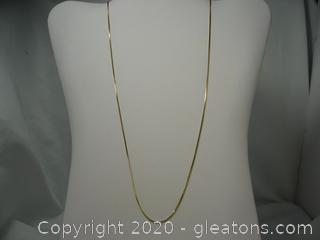 18kt Yellow Gold Box Chain