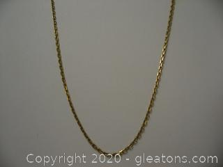18kt Yellow Gold Cable Chain