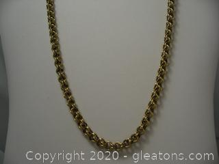 15kt Yellow Gold Double Link Chain