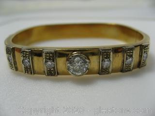 18 kt Yellow Gold Diamond Bracelet