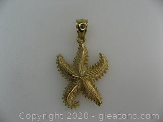 14 kt Yellow Gold Starfish Pendant