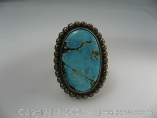 Turquoise Ring In Sterling Silver