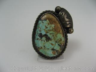 Large Sterling Silver Turquoise Ring