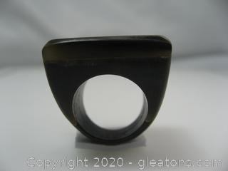 Carved Wood Ring