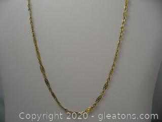 10 kt Yellow Gold Fancy Link Chain