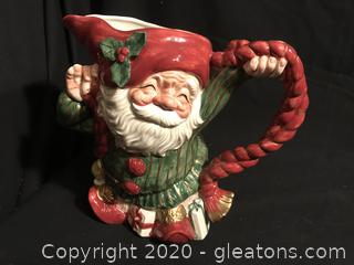 Fits and Floyd Santa Elf Pitcher