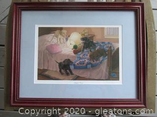 """Slumber Party"" Signed Print Randy McGovern"