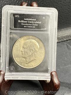 1971 Uncirculated Eisenhower Dollar