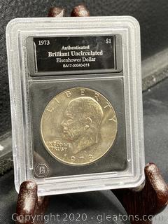 1973 Uncirculated Eisenhower Dollar