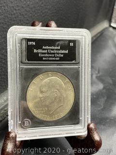1976 Uncirculated Eisenhower Dollar