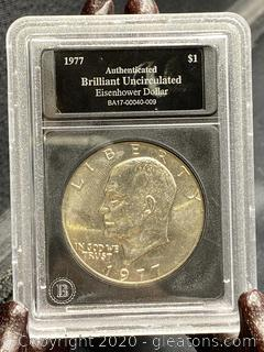 1977 Uncirculated Eisenhower Dollar