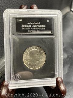 1999 Uncirculated Susan B.Anthony Dollar