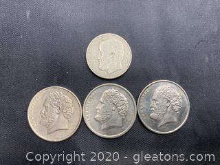 Collection of Greek Drachmes